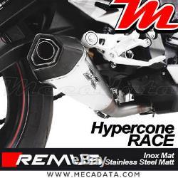 Silencieux Pot échappement REMUS Race Inox mat Triumph Street Triple 765 RS 2017