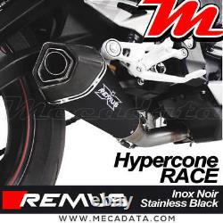 Silencieux échappement REMUS Race Inox noir Triumph Street Triple 765 RS 2020