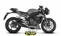 Triumph Street Triple 765 2017-2018 Exan Silencieux Conic X-BLACK Carbone/Titane