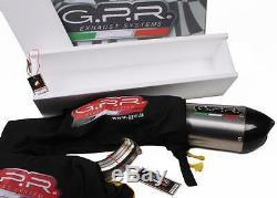 Triumph Street Triple Échappement 2007-2012 à Enfiler Double Noir GPR Ghisa